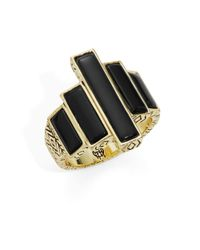 House of Harlow 1960 | Black Long Rain Steps Ring | Lyst