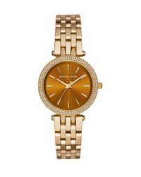 Michael Kors - Metallic Mini Darci Pavé Goldtone Stainless Steel Bracelet Watch - Lyst