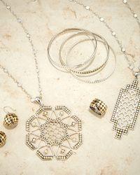 John Hardy - Metallic Dot Gold & Silver Sun Pendant Necklace - Lyst