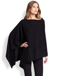 Saks Fifth Avenue - Black Cashmere Poncho - Lyst