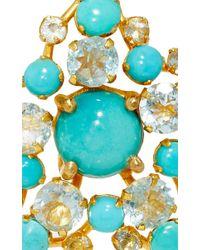 Bounkit   Blue Quartz And Turquoise Earrings   Lyst