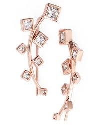 Marcia Moran | Metallic Crystal Ear Cuffs | Lyst