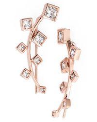 Marcia Moran | Metallic Crystal Ear Cuffs | Lyst