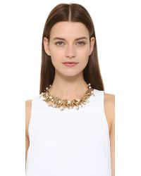 Oscar de la Renta - Metallic Sea Swirl Imitation Pearl Necklace - Lyst