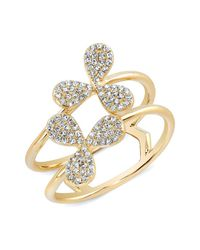 Anne Sisteron | Metallic 14kt Yellow Gold Diamond Daisy Ring | Lyst
