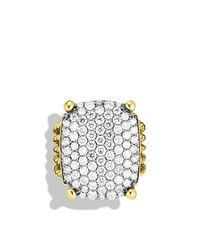 David Yurman - Yellow Wheaton Ring With Diamonds - Lyst