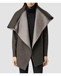 AllSaints - Natural Jax Jacket - Lyst