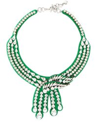 Shourouk | Green 'legend' Necklace | Lyst