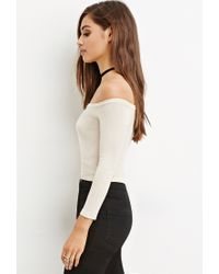Forever 21 | Natural Cropped Raglan Jumper | Lyst