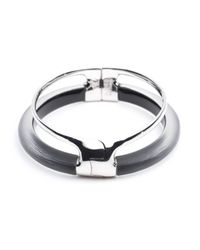 Alexis Bittar - Metallic Double Band Liquid Glazed Hinge Bracelet - Lyst