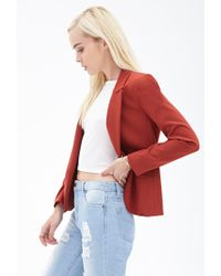 Forever 21 - Structured Woven Blazer - Lyst