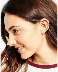 ASOS - Metallic Sleek Bar Ear Cuff - Lyst