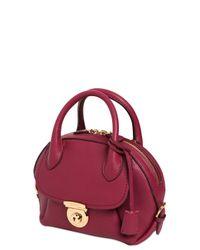 Ferragamo - Purple Small Fiamma Grained Leather Bag - Lyst