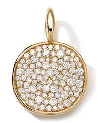 Ippolita | Metallic 18k Medium Pave Diamond Disc Charm | Lyst