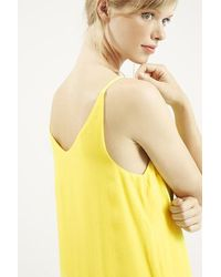 TOPSHOP - Yellow Tall High Apex Slip Dress - Lyst