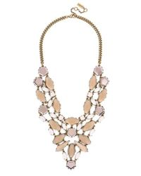BaubleBar | Metallic 'fiji' Bib Necklace - Opal/ Antique Gold | Lyst