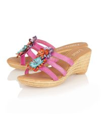 Lotus | Pink Pula Casual Sandals | Lyst