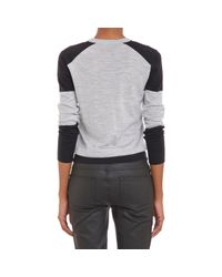 "Belstaff - Gray Colorblock ""Walden"" Pullover Sweater - Lyst"
