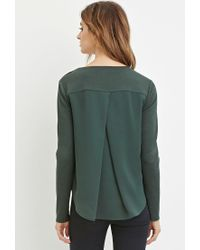 Forever 21 - Green Contemporary Buttoned Combo Top - Lyst