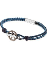 Tateossian | Metallic Pop Gear Leather Bracelet - For Men | Lyst