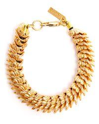 Estelle Dévé | Metallic Rhodium Plated Raven Bracelet | Lyst