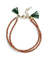 Shashi - 'barbara' Clasp Bracelet - Pyrite/ Orange - Lyst