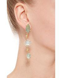 Jordan Alexander   Blue Mo Exclusive: One Of A Kind 18k Gold Aquamarine And Beryl Earrings   Lyst