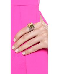 Rebecca Minkoff - Metallic Pyramid Ring - Gold/silver - Lyst