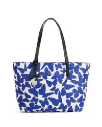 kate spade new york | Blue Ryan Patterned Tote | Lyst