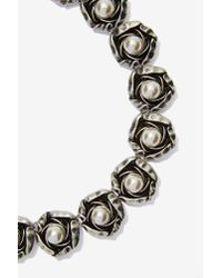 Cocoa Jewelry - Gray Rosetta Chain Collar Necklace - Lyst