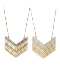 Madewell - Metallic PavÉ Arrowstack Necklace - Lyst