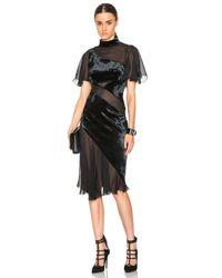 Christopher Kane - Black Flounce Velvet Dress - Lyst