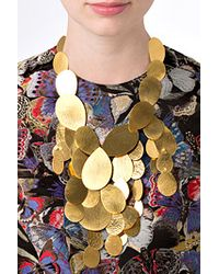 Herve Van Der Straeten | Metallic Hammered Gold-Plated Tears Layered Necklace | Lyst