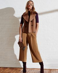 Exclusive For Intermix - Natural Cropped Vest - Lyst
