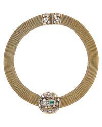 Munnu - Metallic Elephant Medallion Collar - Lyst