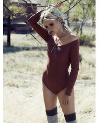 Free People - Brown Intimately Womens The Scoop Suit - Lyst