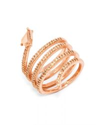 BaubleBar | Metallic Crystal Constrictor Ring | Lyst