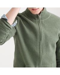 J.Crew | Green Cotton-cashmere Zip Sweater-jacket for Men | Lyst