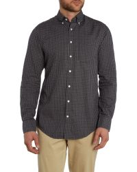 GANT | Gray Gingham Heather Twill Shirt for Men | Lyst