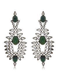 DANNIJO | Green Alessia Earrings | Lyst