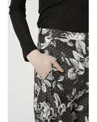 TOPSHOP - Blue Geo-Rose Print Slim Flares By Boutique - Lyst
