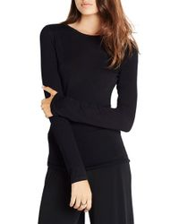 BCBGeneration | Black Open Back Knit Top | Lyst