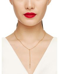 Kate Spade | Metallic Say Yes Mrs Y Necklace | Lyst