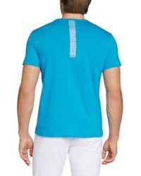 BOSS Green - Blue Cotton T-shirt 'tee 3' for Men - Lyst