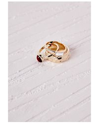 Missguided   Multicolor Multi Stacking Ring Set Gold   Lyst