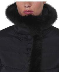 Armani Jeans   Black Fur Trim Puffa Jacket   Lyst