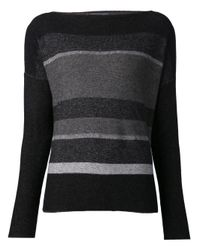 Vince - Black Variegated Pullover Sweater - Lyst