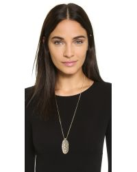 Sam Edelman | Metallic Large Oval Pendant Necklace - Gold | Lyst