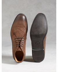 John Varvatos - Brown Dylan Calfskin Chukka Boots for Men - Lyst