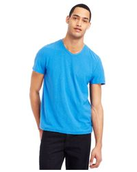 Kenneth Cole Reaction | Blue Slub V-neck T-shirt for Men | Lyst